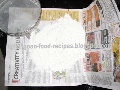 Sieving flour