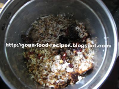 Ingredients ofr Goan Meat Curry Masala