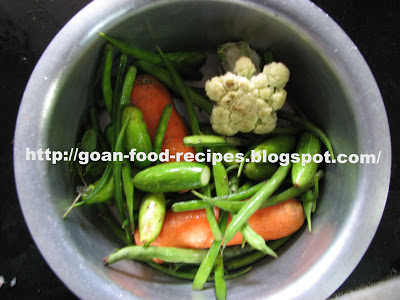 Vegetables to put in the curry