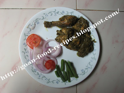 Chicken cafreal my personal favorite goan food recipes chicken cafreal with salad forumfinder Image collections