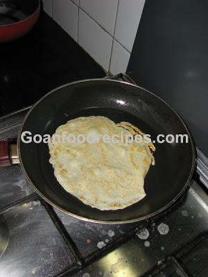 Cook the pancake till golden brown