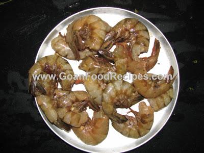 Fresh big prawns