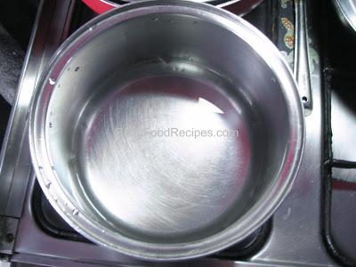 Heat water in a vessel
