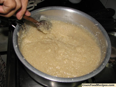 keep stirring the coconut ice mixture