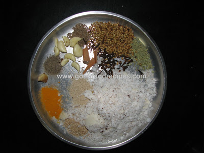 Mutton shakuti masala ingredients
