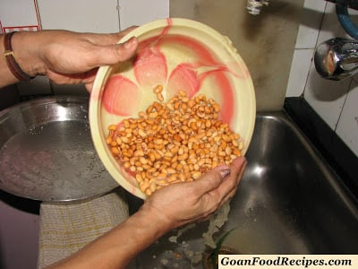 rinse the beans