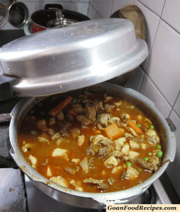 pressure cook the mixed meat stew