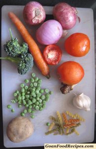 veg ingredients for the stew