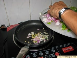 add onions and chillies