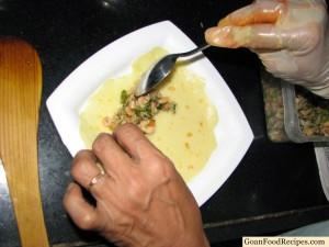 add the prawn mixture