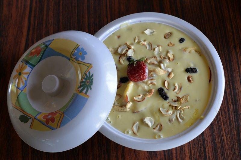 Mix Fruit Custard